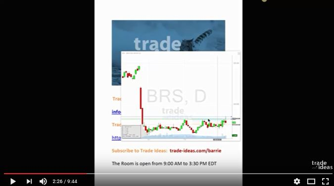 Trade Ideas Live Trading Room Recap Tuesday August 8, 2107